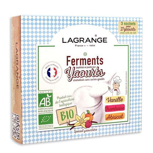 Ferments Lagrange pour yaourts aromatisés sans sucres ajoutés 385003