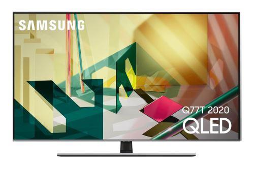 """Plus de détails TV Samsung QE55Q77T QLED 4K HDR 55"""" Noir 2020"""