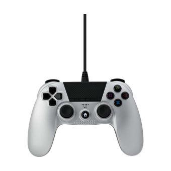 Manette PS4 filaire Under Control Argent