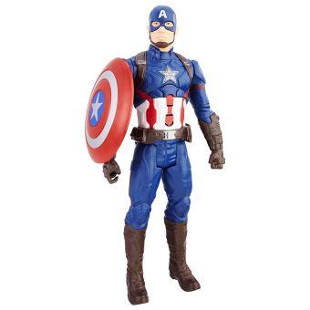 figurine lectronique captain america marvel avengers titan 30 cm autre figurine ou r plique. Black Bedroom Furniture Sets. Home Design Ideas