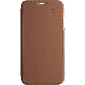 Etui folio en cuir Beetle Case Camel pour iPhone 6, 6s, 7 et 8