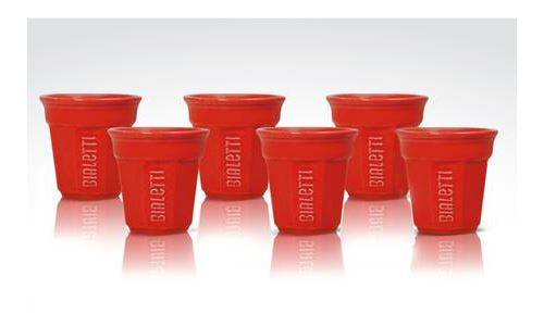 Set de 6 tasses Bialetti Rouge