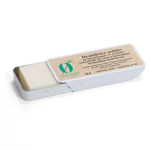 Dentifrice solide bicarbonate citron