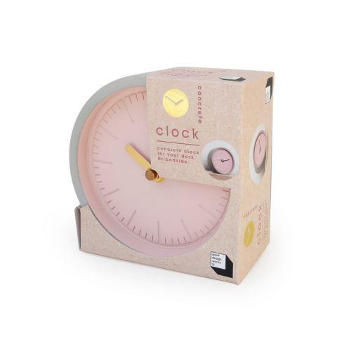 Horloge béton, aiguilles dorées. D13cm