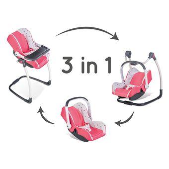 chaise haute si ge smoby b b confort 3 en 1. Black Bedroom Furniture Sets. Home Design Ideas