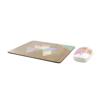 Ensemble souris sans fil et tapis de souris T'nB Exclusiv' Series Design Scandinave