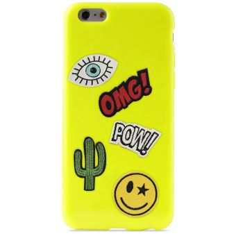 PURO COVER PATCH MANIA IPHONE 6/6S  LIME GREEN