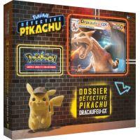 Coffret de 4 boosters Pokémon Pikachu détective Dracaufeu GX