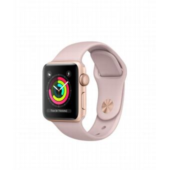 Apple Watch Series 3 38 mm Boîtier en Aluminium Or avec Bracelet Sport Rose des sables