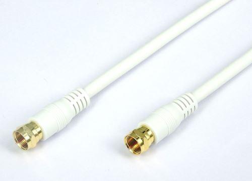 Câble Antenne TV Temium Connecteur plaqué Or 3 m Blanc
