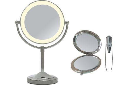 Pack 2 miroirs et 1 pince à épiler lumineuse Okoia