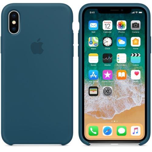 Coque en silicone Apple Bleu cosmos pour iPhone X