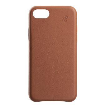 Coque en cuir Beetle Case Camel pour iPhone 6, 7 et 8