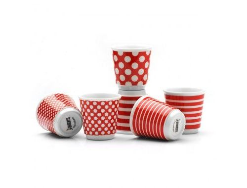 Set de 6 tasses Bialetti Elégance Pop Rouge