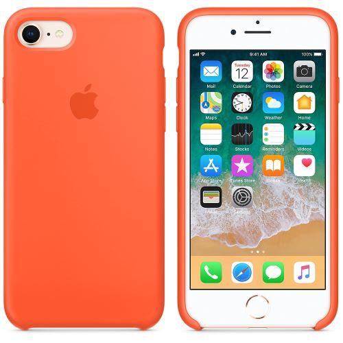 Coque en silicone Apple Orange curcuma pour iPhone 7 et 8