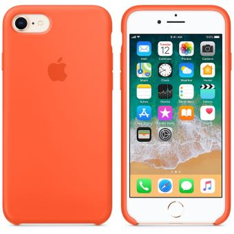 Coque en silicone Apple Orange curcuma pour iPhone 7 et 8