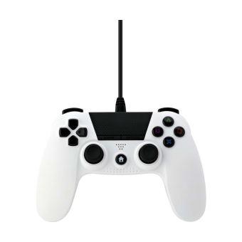 Manette PS4 filaire Under Control Blanc