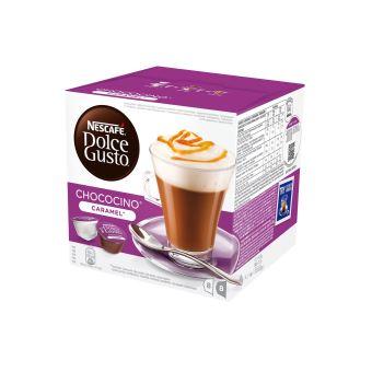 Boîte Gusto De Café 16 Capsules Dolce Caramel Chococino fYb76yg