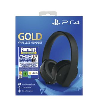 Pack Sony Casque sans fil PS4 Noir + Voucher Fortnite