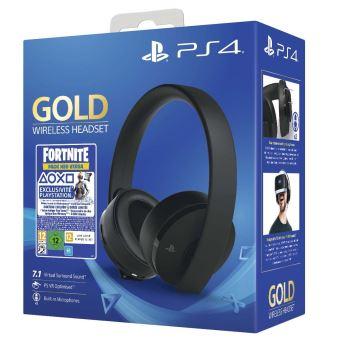 Casque-micro sans fil Gold Edition Fortnite Neo Versa pour PS4