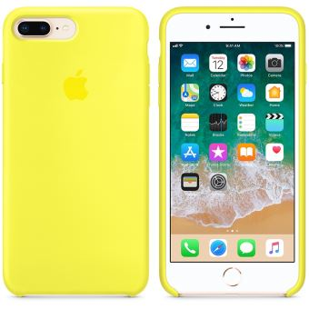 coque en silicone apple jaune flashy pour iphone 7 plus et 8 plus etui pour t l phone mobile. Black Bedroom Furniture Sets. Home Design Ideas