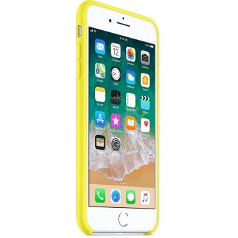 Coque en silicone Apple Jaune flashy pour iPhone 7 Plus et 8 Plus