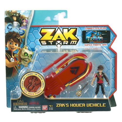Le surf de Zak roule et son extrémité s´entrouvre pour découvrir un lance-missile ! Fourni avec sa figurine de Zak 8 cm entièrement articulée et un trésor qui permet de débloquer des avantages dans le jeu sur mobiles Zak Storm.