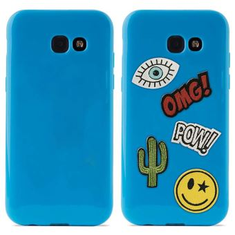PURO PATCH MANIA COVER GALAXY A5 2017 BLUE
