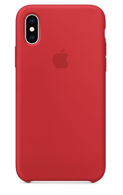 coque iphone xs apple rouge
