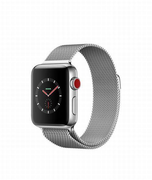 Fnac.com : Apple Watch Series 3 Cellular 38 mm Boîtier en Acier inoxydable avec Bracelet Milanais - Montre connectée.