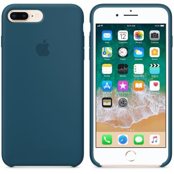 coque en silicone apple bleu cosmos pour iphone 7 plus et 8 plus etui pour t l phone. Black Bedroom Furniture Sets. Home Design Ideas