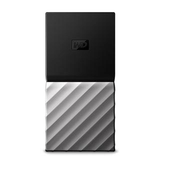 """Disque Dur SSD Externe Western Digital My Passport 2.5"""" 256 Go Argent et Noir"""