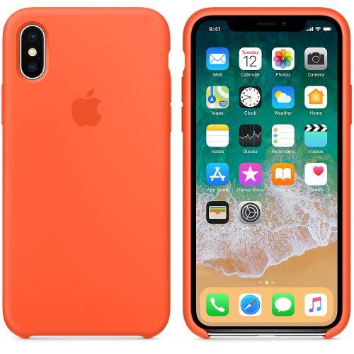 Coque en silicone Apple Orange curcuma pour iPhone X