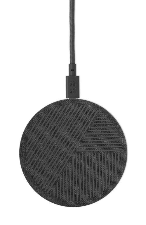Chargeur à induction Native Union Drop Charger noir compatible GSM Samsung, iPhone et tous mobiles compatibles avec la recharge Qi