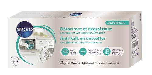 Détartrant 3 en 1 lave-linge & lave-vaisselle Wpro 12 sachets