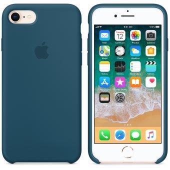 Coque en silicone Apple Bleu cosmos pour iPhone 7 et 8