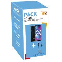 Pack Fnac Smartphone Honor 20 Lite Double SIM 128 Go Noir + Ecouteurs Bluetooth Honor AM61 Bleu