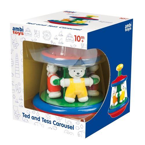Jeu d'éveil Ambi Toys Le carrousel des ours