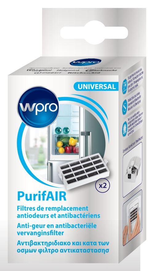 Lot de 2 filtres de remplacement antiodeurs et antibactérien Wpro PurifAIR pour réfrigérateur
