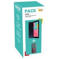 Pack Smartphone Wiko Y60 Dark Blue 16 Go + Etui folio