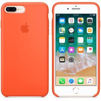 Coque en silicone Apple Orange curcuma pour iPhone 7 Plus et 8 Plus