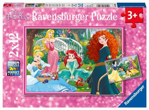 2 puzzles 12 pièces Disney Princesses Ravensburger