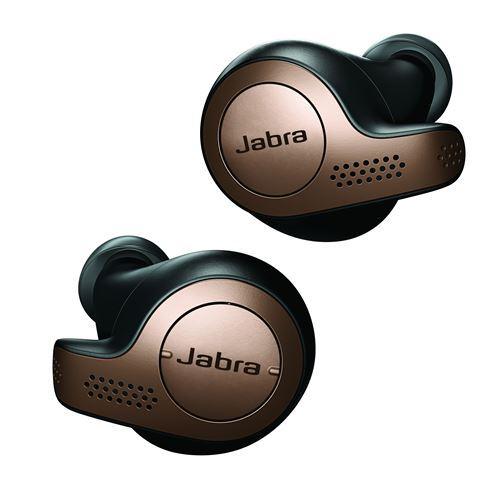 Ecouteurs sans fil True Wireless Jabra Elite 65t Noir et Cuivre