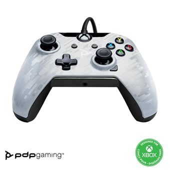 Manette Xbox One et PC filaire PDP Blanc spectral