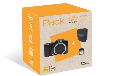 styles de mode invaincu x original Pack Fnac Appareil photo compact Kodak Pixpro FZ152 Noir + Etui + SD 8 Go