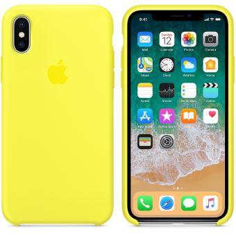 Coque en silicone Apple Jaune flashy pour iPhone X