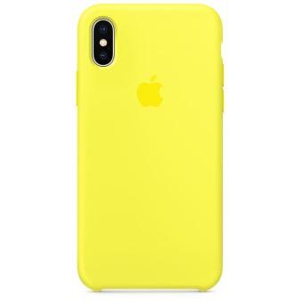 coque jaune fluo iphone xs