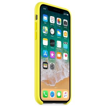 coque iphone x jaune fluo