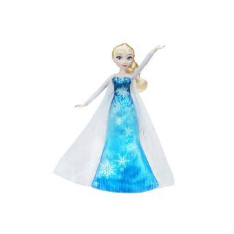 Peluche Frozen La Reine Des Neiges Elsa Robe Musicale Bleue Poupee Achat Prix Fnac