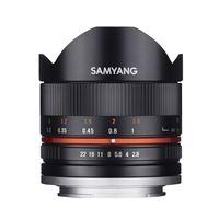 Samyang f2.8 fisheye ii umc fuji x objectif 8 mm noir